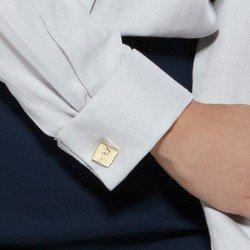 camisa social com abotoadura cinza korine abotoadura