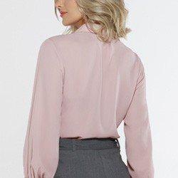 camisa rose manga bufante madeline costas