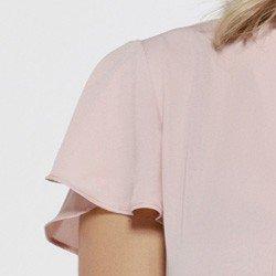 blusa rose com gola laco sunny manga