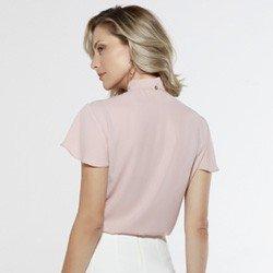 blusa rose com gola laco sunny costas