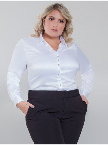 camisa cetim branca cristal aurea frente