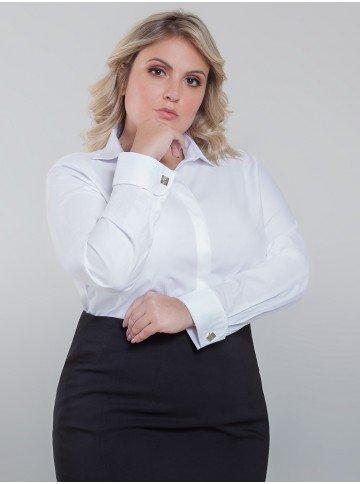 camisa branca com abotoadura isabela frente