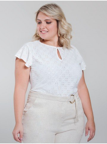 blusa laise off white samira frente