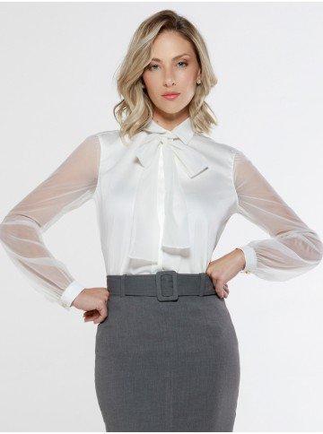 camisa gola laco off white seona