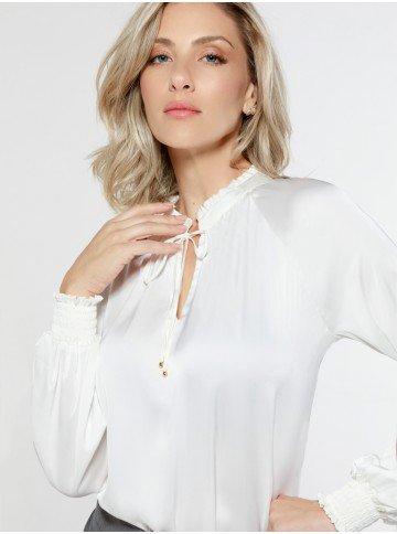 blusa cetim off white zahara