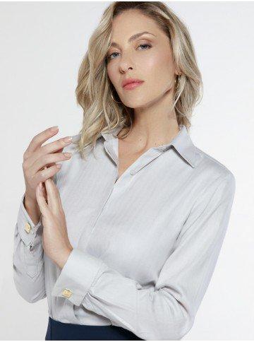 camisa social algoda com abotoadura korine frente