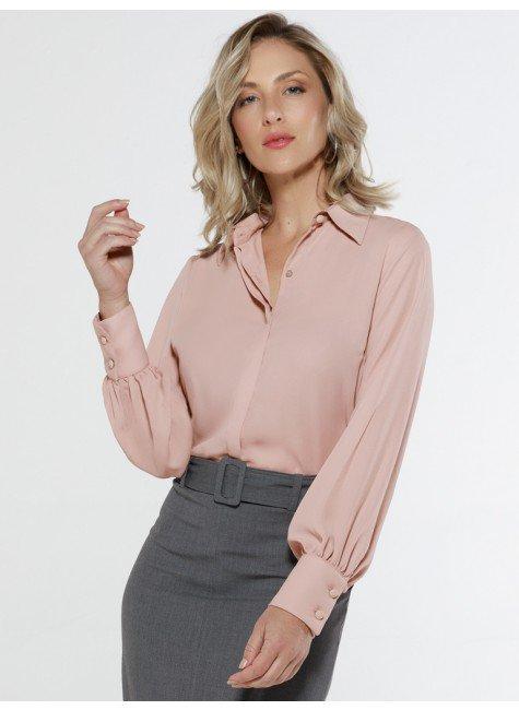 camisa rose manga bufante principessa madeline frente