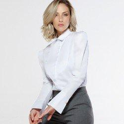 camisa manga bufante branca aliane detalhe modelagem