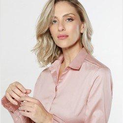 detalhe camisa prega punhos rose claudina tecido
