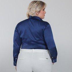 detalhe camisa plus size cetim jussara