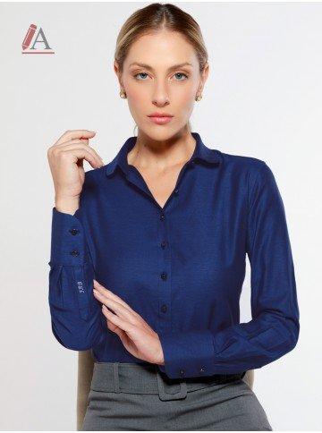 camisa social azul personalizada aniki