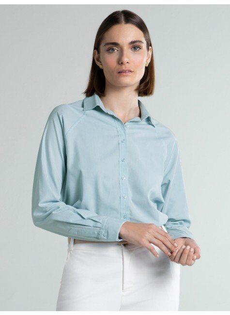 camisa ampla azul verena