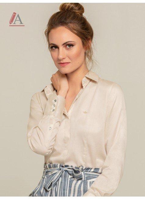 camisa areia personalizada feminina kaya