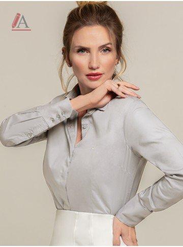 camisa feminina cinza personalizada harper