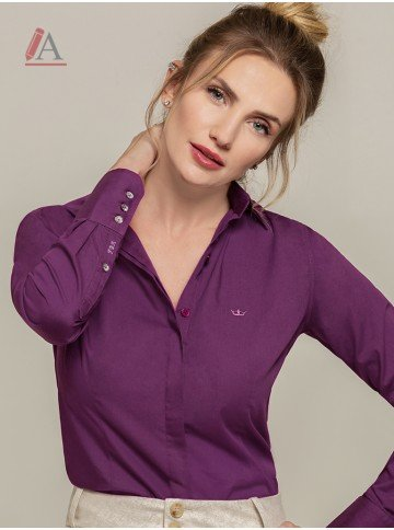 camisa personalizada violeta donatella