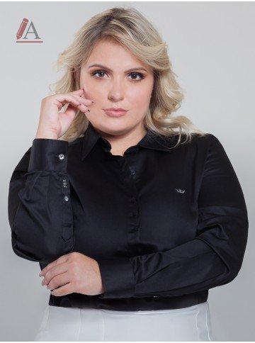 camisa preta plus size personalizada charlie frente