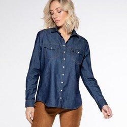 frente camisa jeans escura emanuelle