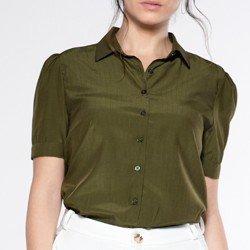 camisa verde manga curta andreah