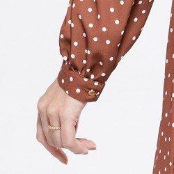 detalhe punho vestido poas italize