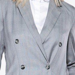 detalhe blazer boyfrind xadrez polly frente