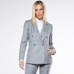 detalhe blazer boyfrind xadrez polly look
