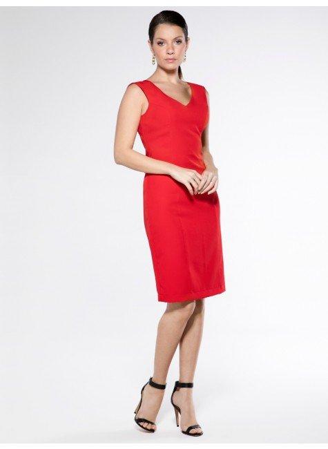 vestido tubinho vermelho principessa aveda look