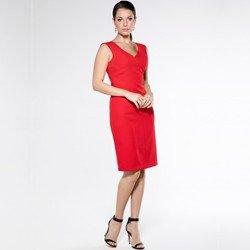 detalhe vestido tubinho vermelho aveda look