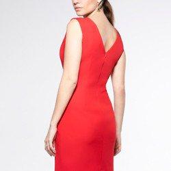 detalhe vestido tubinho vermelho aveda modelagem