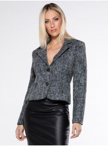 casaqueto em tweed preto octavia