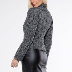 detalhe casaqueto preto tweed octavia modelagem