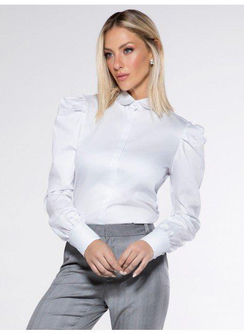 camisa branca manga bufante martinah