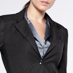 detalhe casaco sobretudo dorothy gola blazer