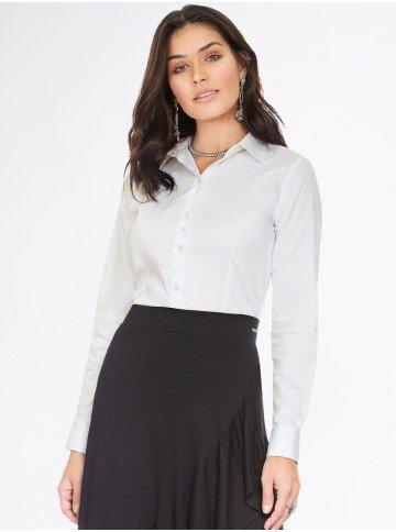 camisa off white feminina roberta