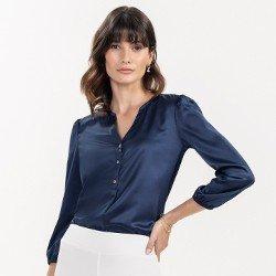 blusa marinho manga 7 8 thereza