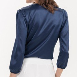blusa marinho manga 7 8 thereza costas