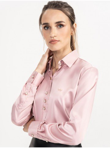 camisa cetim rose principessa ligia frente