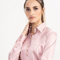 detalhe camisa cetim rose principessa ligia look