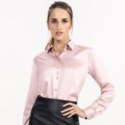 detalhe camisa cetim rose principessa ligia tecido