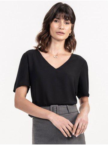 blusa feminina preta eduarda look