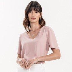 detalhe blusa basica rose feminina