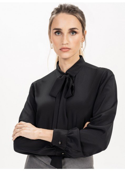 camisa gola laco preta principessa giuliana