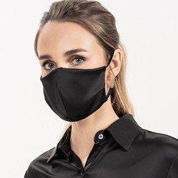 mascara protecao cetim preta alda detalhe