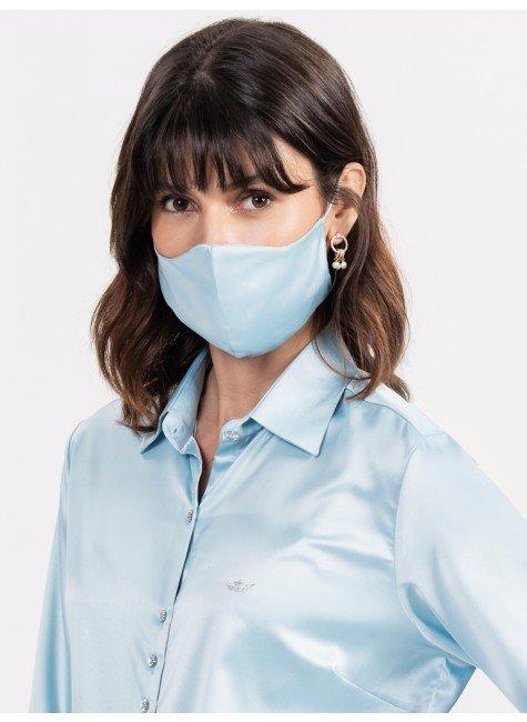 mascara protecao cetim azul fani