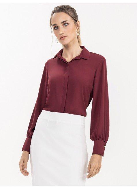 camisa bufante bordo adriella look