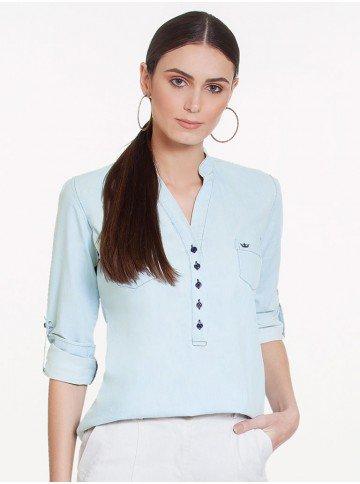 bata blusa jeans clara manga longa principessa desiree