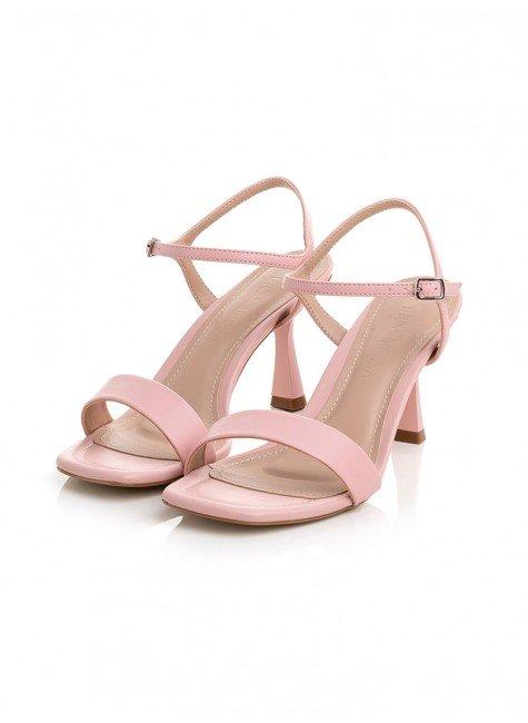 sandalia rosa claro salto baixo principessa rubian