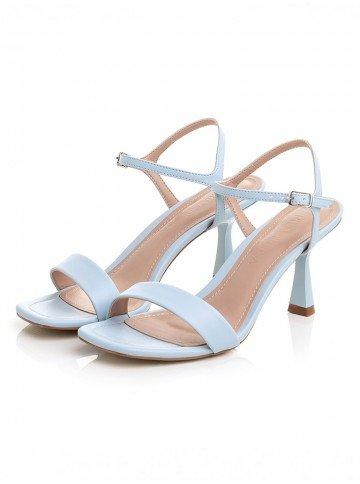 sandalia azul claro salto baixo principessa naiza