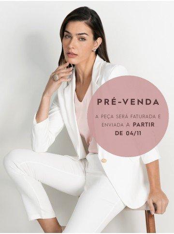 blazer off white alongado alfaiataria juliete pre venda