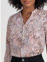 camisa animal print feminina principessa hilda decote