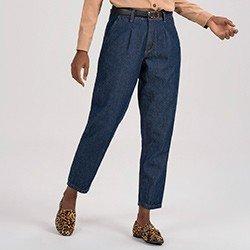 calca jeans feminina Slouchy principessa honoria